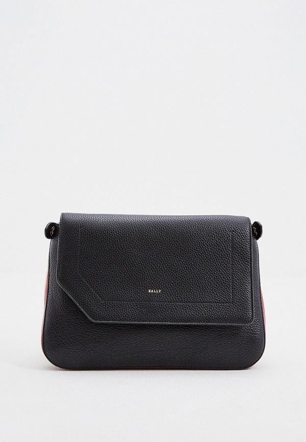 женская сумка через плечо bally, черная