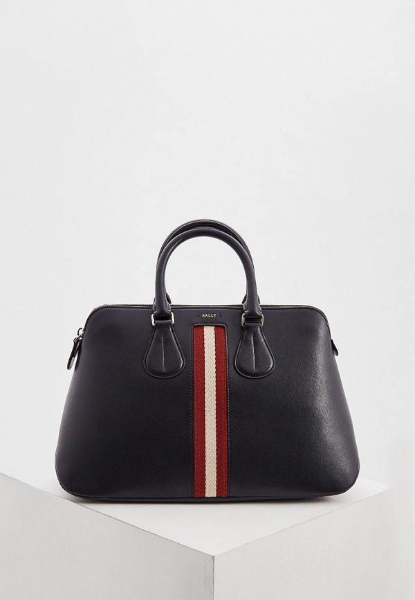 женская сумка с ручками bally, черная