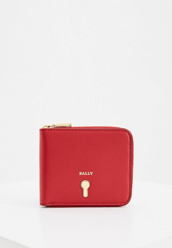 женский кошелёк bally, красный