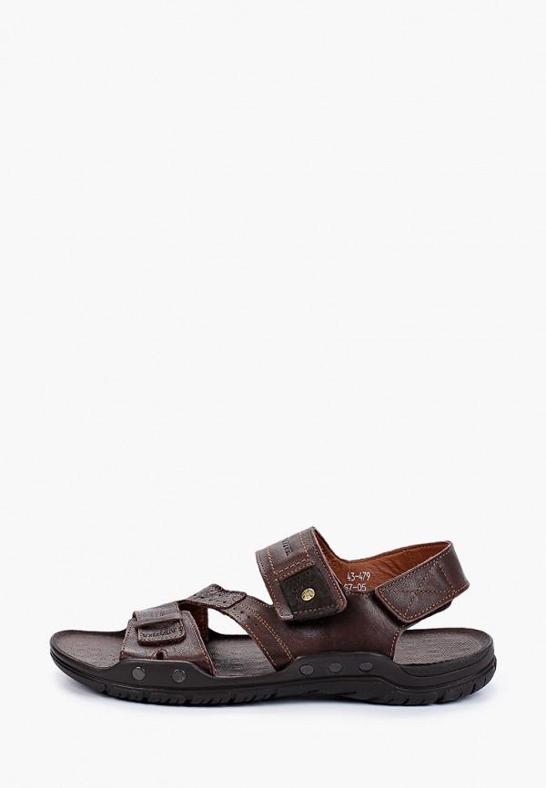 мужские сандалии baden, коричневые
