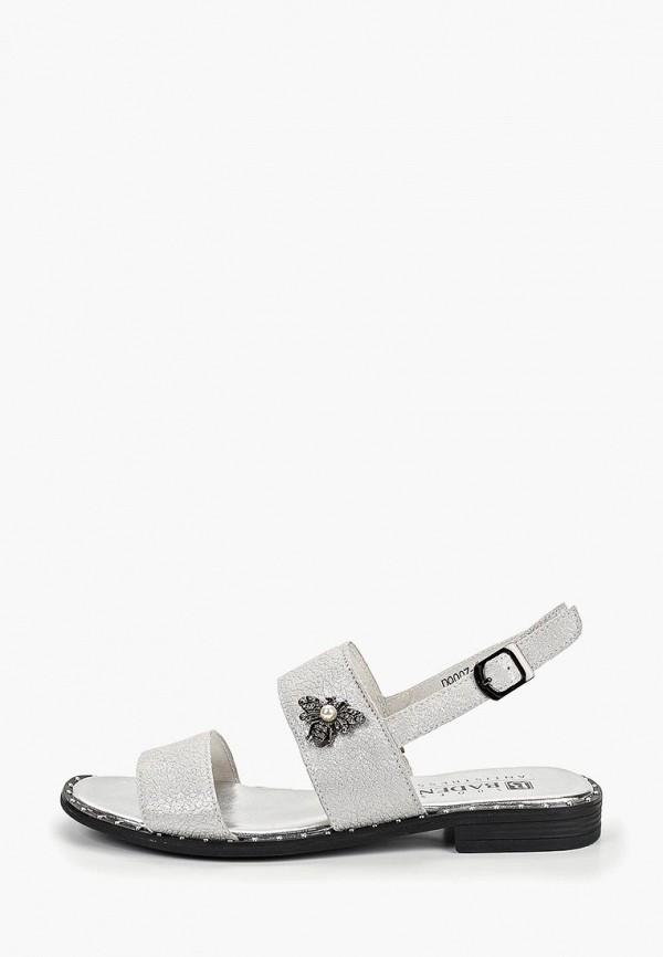 женские сандалии baden, серебряные