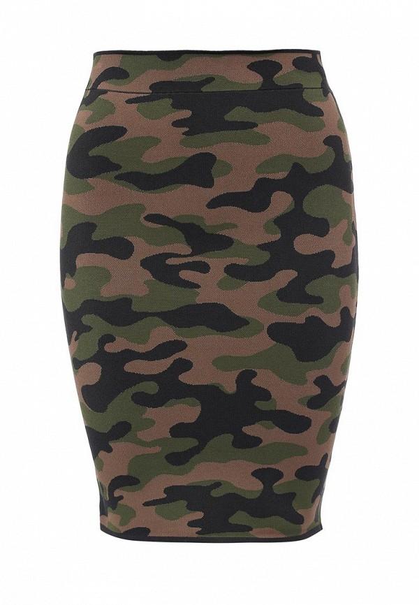 женская юбка миди bcbgmaxazria, разноцветная