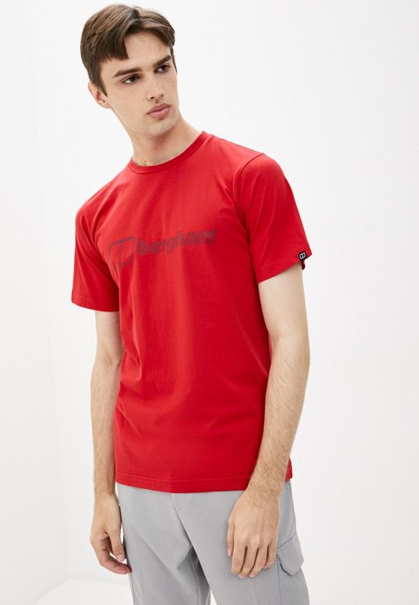 мужская спортивные футболка berghaus, красная