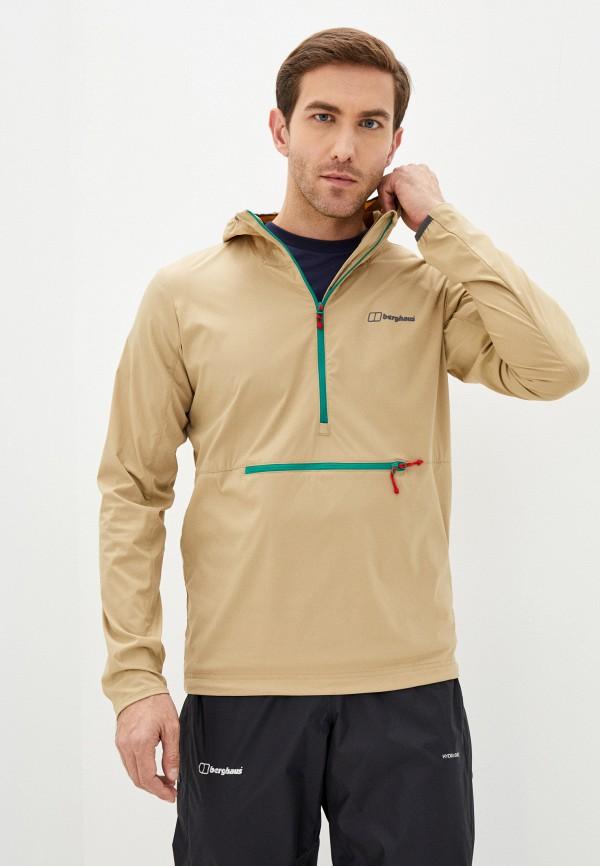 мужская куртка berghaus, бежевая
