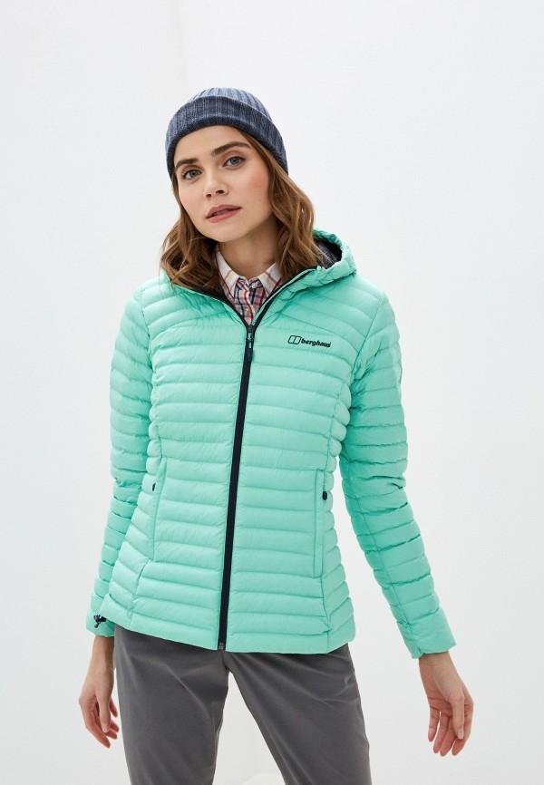 женская куртка berghaus, зеленая