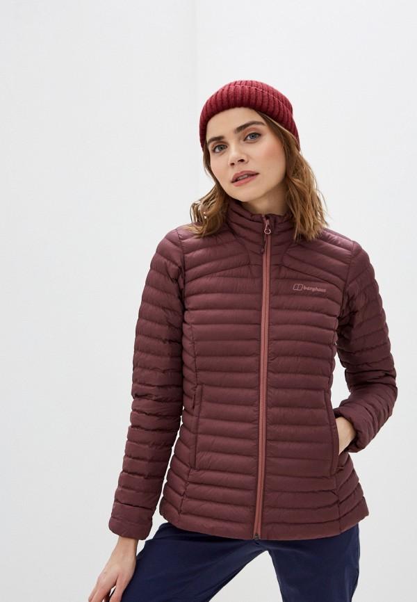 женская куртка berghaus, бордовая