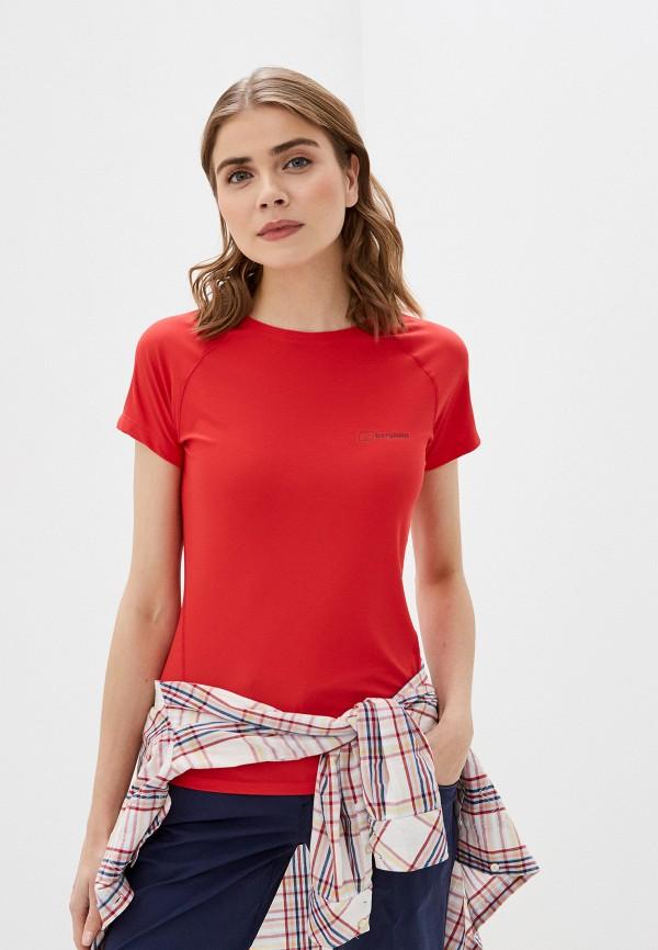 женская спортивные футболка berghaus, красная