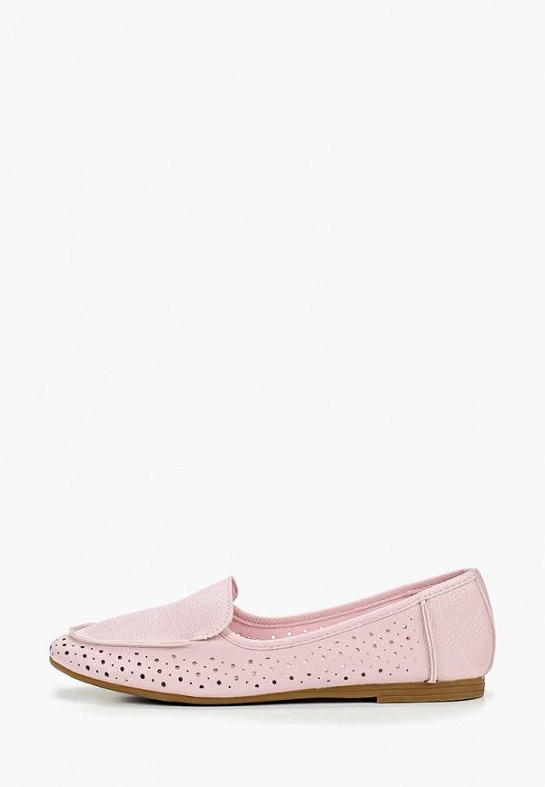 лоферы betsy для девочки, розовые