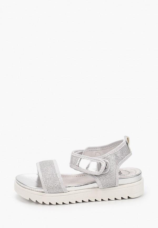сандалии betsy для девочки, серебряные