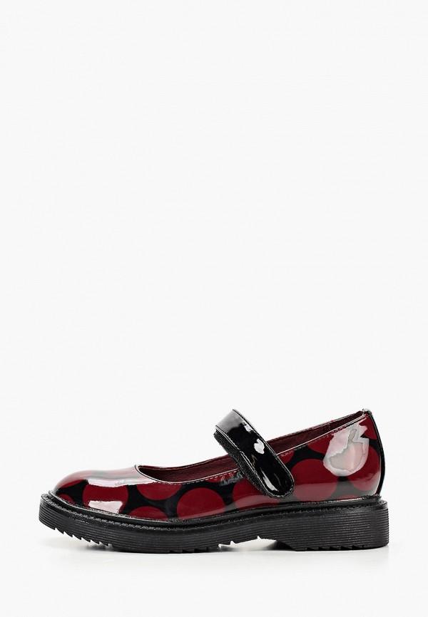 туфли betsy для девочки, бордовые
