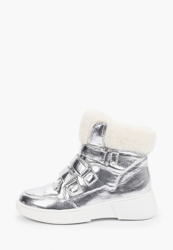 ботинки betsy для девочки, серебряные