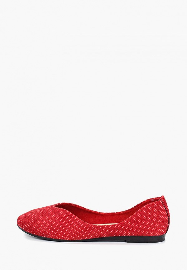 женские балетки betsy, красные