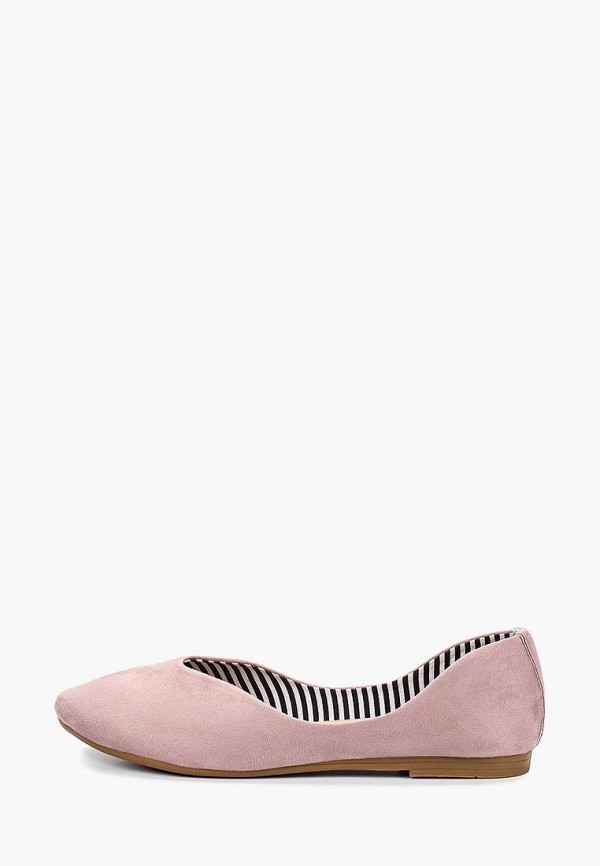 Купить Балетки с круглым носом, Балетки Betsy, be006awemtt7, розовый, Весна-лето 2019
