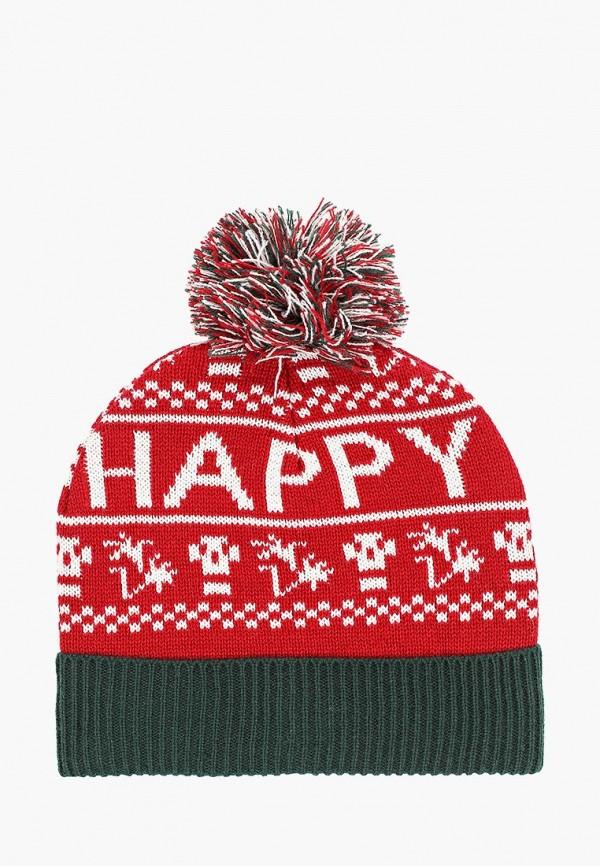 мужская шапка befree, красная