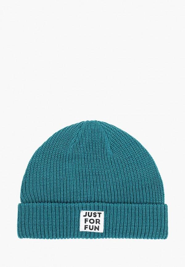 женская шапка befree, зеленая