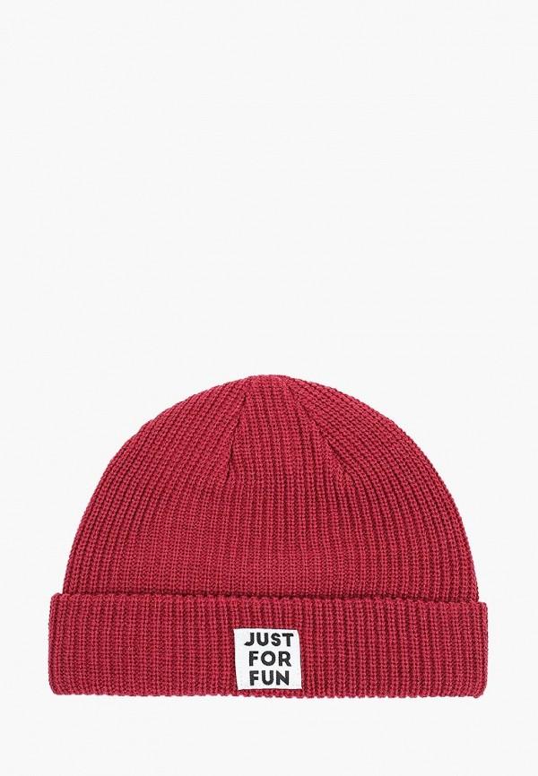 женская шапка befree, бордовая