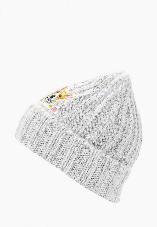 Купить Шапка Befree, be031cwcupj0, серый, Осень-зима 2018/2019