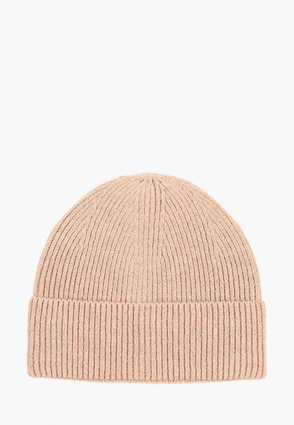 женская шапка befree, бежевая
