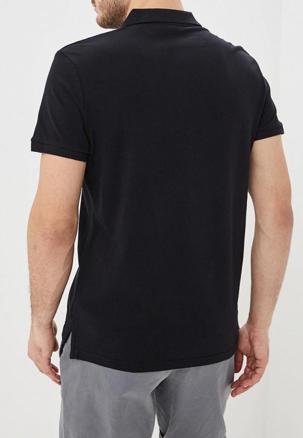Фото 3 - мужское поло Befree черного цвета