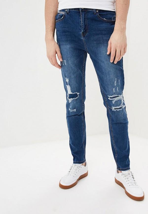 мужские зауженные джинсы befree, синие