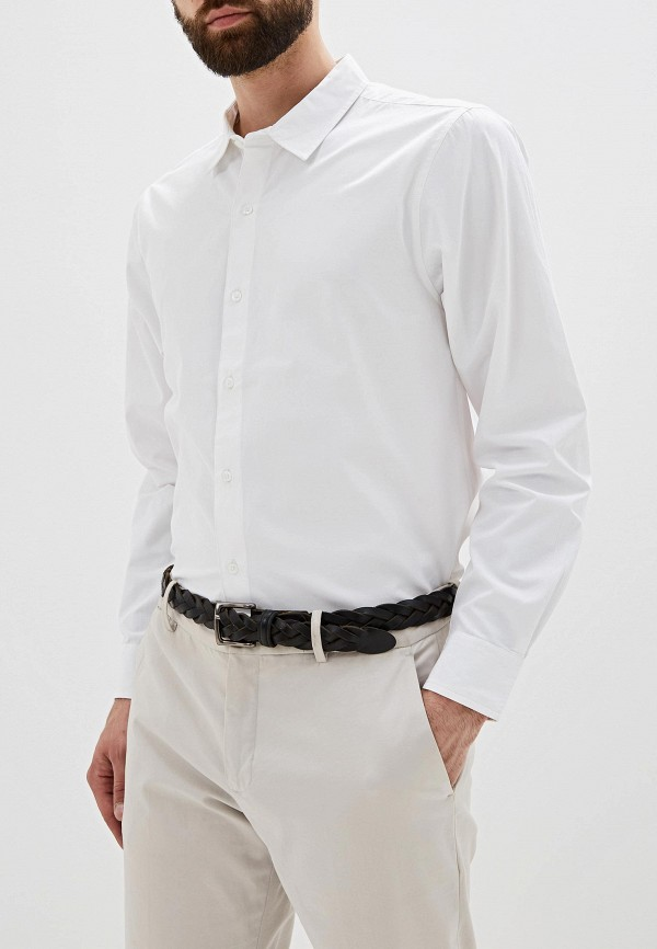 мужская рубашка с длинным рукавом befree, белая