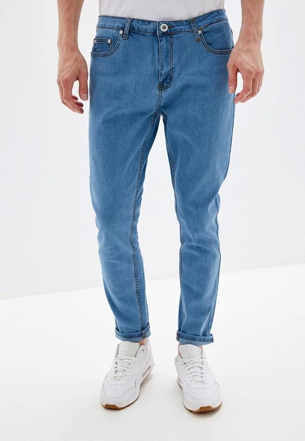 мужские зауженные джинсы befree, голубые