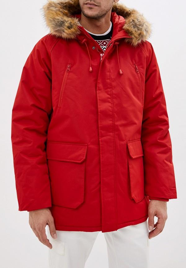 мужская куртка befree, красная