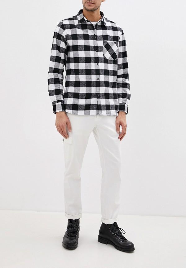 Фото 2 - мужскую рубашку Befree черного цвета