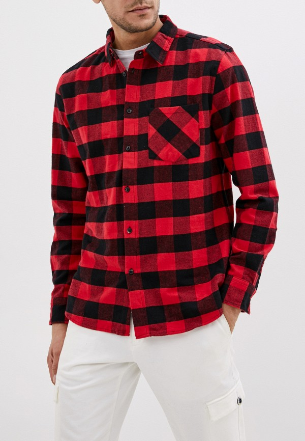 мужская рубашка с длинным рукавом befree, красная