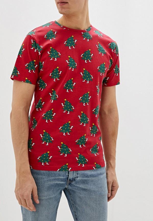 мужская футболка с коротким рукавом befree, красная