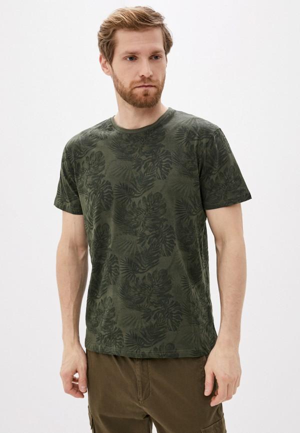 мужская футболка с коротким рукавом befree, хаки