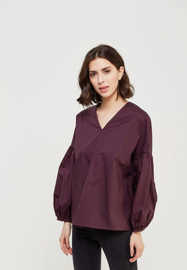 Купить Блуза Befree, be031ewadmr9, фиолетовый, Весна-лето 2018