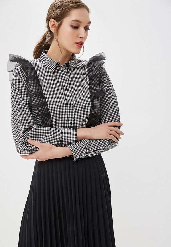 Купить Блуза Befree, be031ewadnc4, серый, Весна-лето 2018