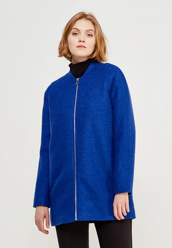 Купить Пальто Befree, be031ewadnq5, синий, Весна-лето 2018