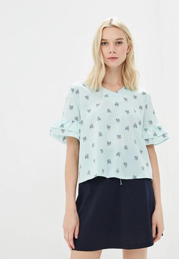 женская блузка befree, бирюзовая