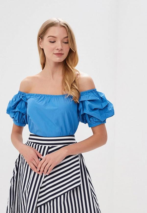 Купить Блуза Befree, Befree BE031EWBABJ2, синий, Весна-лето 2018