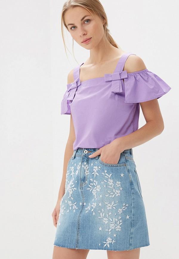 Купить Блуза Befree, BE031EWBNDB1, фиолетовый, Весна-лето 2018