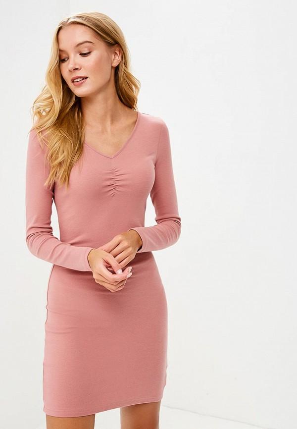 Купить Платье Befree, BE031EWBXHY1, розовый, Осень-зима 2018/2019