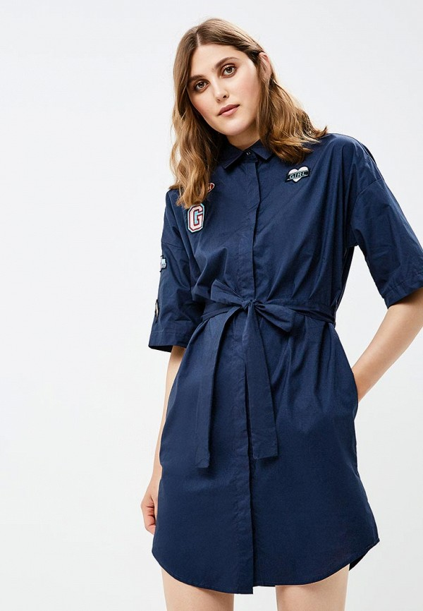 женское платье befree, синее