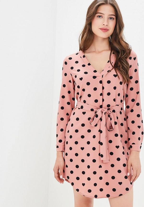 Купить Платье Befree, BE031EWBXLI2, розовый, Осень-зима 2018/2019