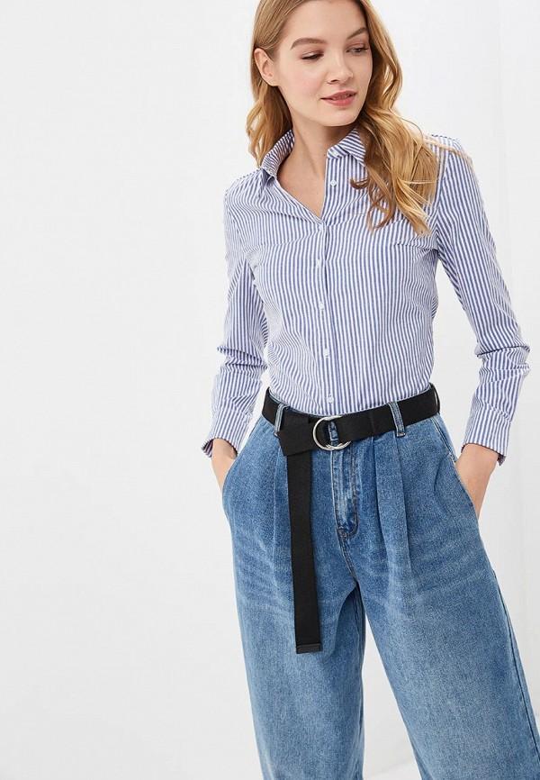 женская рубашка с длинным рукавом befree, голубая