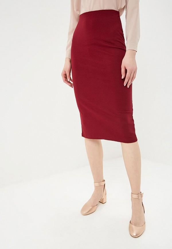 женская зауженные юбка befree, бордовая