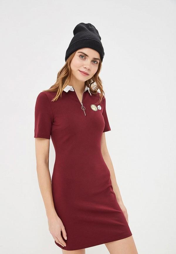 Бордовое платье Befree