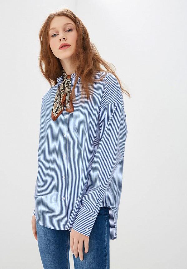 женская рубашка с длинным рукавом befree, синяя