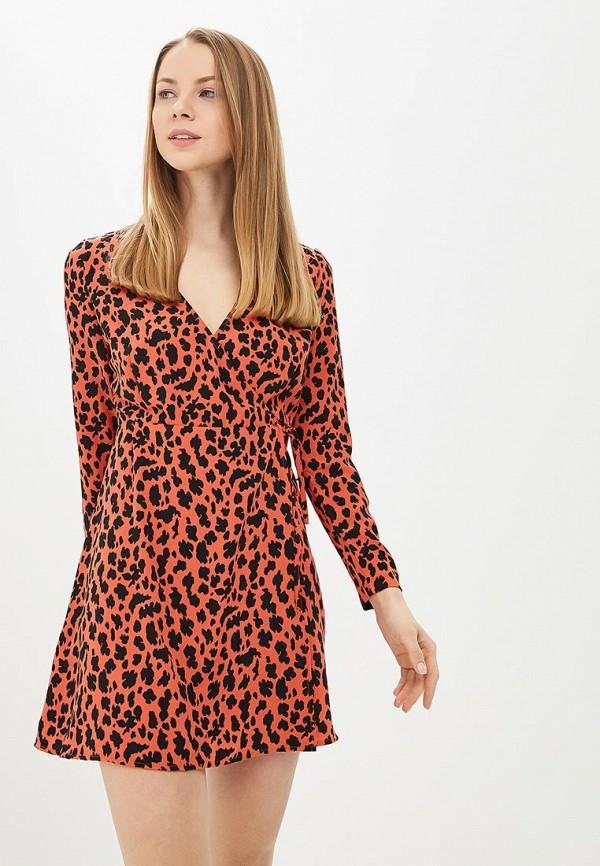 женское платье befree, коричневое