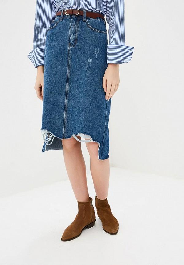 женская джинсовые юбка befree, синяя