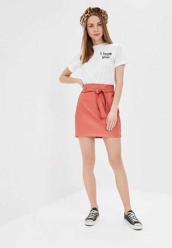 Фото 2 - женскую юбку Befree оранжевого цвета