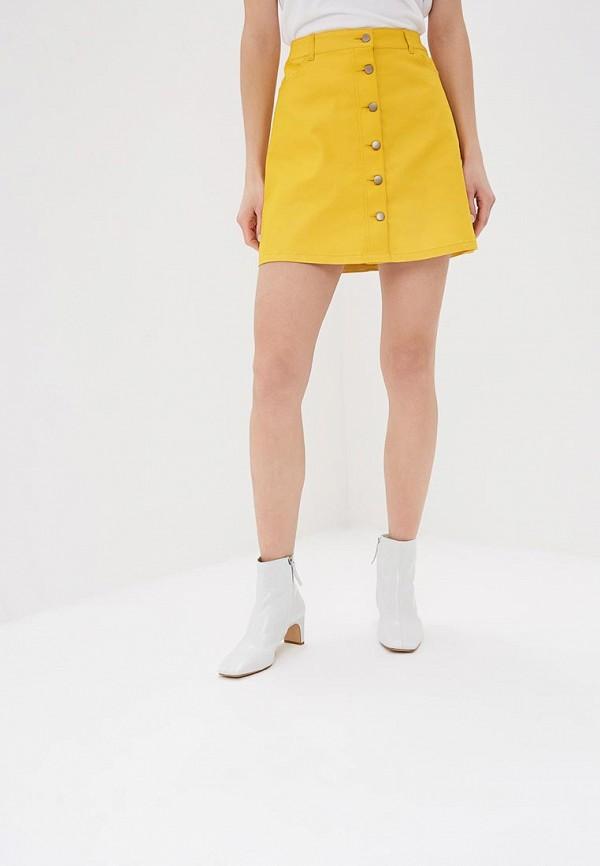 женская прямые юбка befree, желтая
