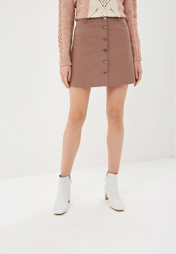 женская джинсовые юбка befree, бежевая