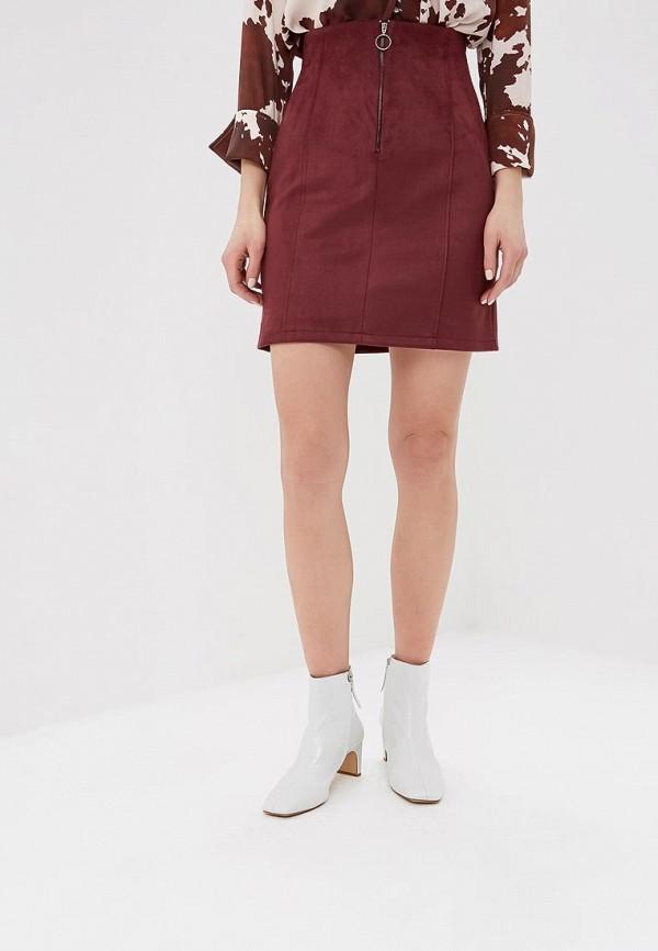 женская прямые юбка befree, бордовая